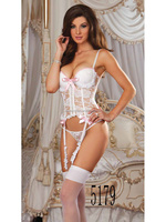 fashion new design sheer white lace sexy padded bra lingere with g-string t-back suits