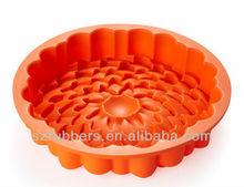forma de la flor de silicona molde de la torta de silicona utensilios para hornear
