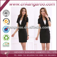 fashionable slim skirt suit for office lady