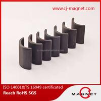 High Trade Assurance Grade 3 arc ferrite magnet for permanent motor