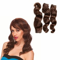 16inch 3 Pieces/Lot 100g/pcs honey brown Unprocessed Virgin brazilian loose wave Hair Extensions