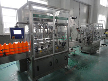 Automatic soft drink filling machine with 6-head