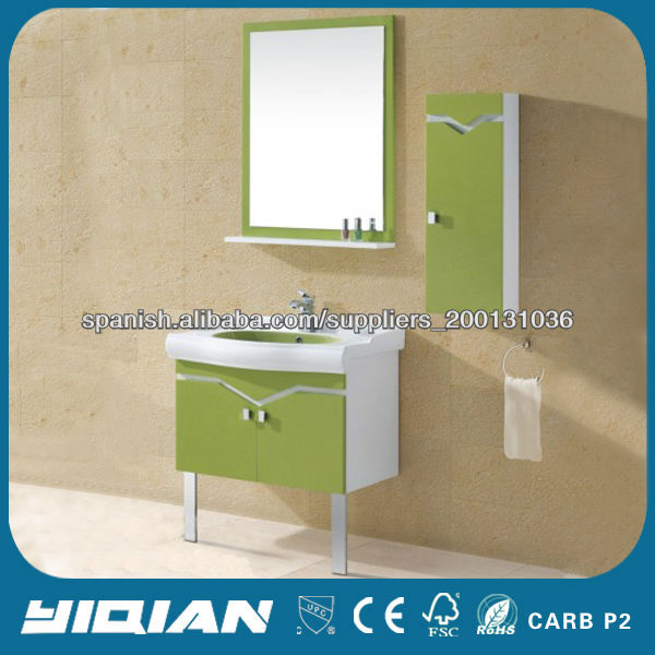 Muebles De Baño En Pvc Puerto Rico:montado en la pared de pvc cuarto de baño vanidad muebles-Cuarto de