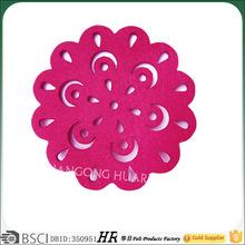 pink 3/set felt coasters