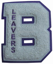 Wholesale custom letter chenille patch with embroidered