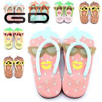new design childern cute flip flops summer slippers