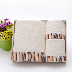 New fashion style bath towel, face towel with box package