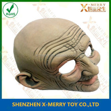 X-MERRY Bald Old Man Latex Mask For Halloween Party, Party Transgender Mask