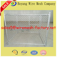 large dog cages with chain link