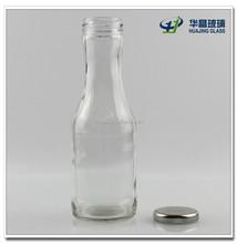 330ml glass drinking beverage bottle with metel lid wholesale