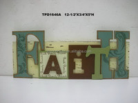 "Distressed Wooden Plaque Words and Letters ""FAITH"" Home Wall Decoration Art"