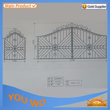China factory steel fence part / iron main gate design / wrought iron