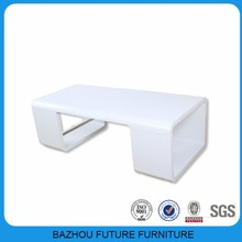 High Gloss White wood extensible Coffee Table living room furniture