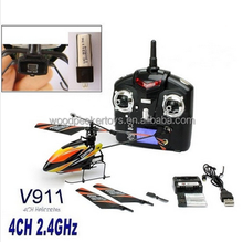High Quality WLtoys Upgraded Version V911 4CH 2.4Ghz Single Blade Propeller Radio Remote Control RC Helicopter w/GYRO RTF Mode 2