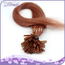 "Top grade 10""-26"" virgin brazilian human hair natural wave 0.5g nail tip u tip hair extensions"
