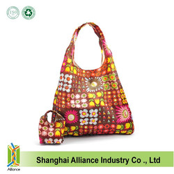 Eco-friendly Colorful Waterproof 190T Foldable Shopping Bag,Collapsible Shopping Bag