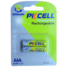 Popular Ni-MH AAA 600mAh 1.2V rechargeable battery pack for Toys