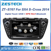 ZESTECH made in china car dvd player For SUZUKI SX4 S-Cross 2014 support 3G BT audio DVB-T MP3 MP4 HDMI USB GPS DVD function