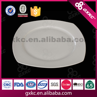 8.5 inch ceramic white square wholesale restaurant fast food dinner plates