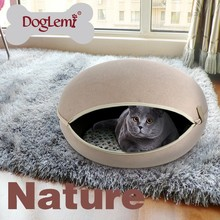 Trade Assurance DogLemi Manufacture Detachable Luxury cat Hamburger Hammock Pet Cat Cage Cave House for Pets Outdoor Cat House