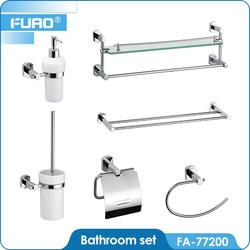 6 pcs Zinc Alloy Stainless Steel Hotel Balfour Bathroom Accessory Set