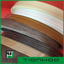 TIANHAO the latest new wood color PVC edge banding