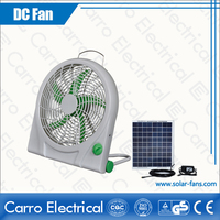hot selling 12V dc mini fan 10 inch solar powered box fan with pure copper