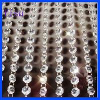 rystal acrylic octagon beads curtain Wedding garland strand lamp decoration