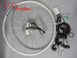 waterproof front/rear drive motor 36v 500w e-bike kit with 14A controller