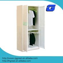 2 people looks like wooden surface clothes cabinet hanger