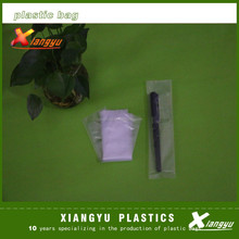 Clear poly bags for packing pens