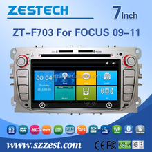 car navigation for Ford focus 2009-2011 silver color car audio player with buletooth gps Radio RDS