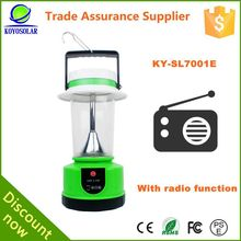 Exclusive patent design factory rechargeable lantern with radio