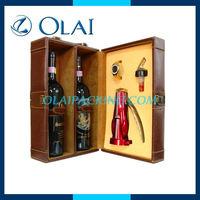 Leather wine box, wine box, wine case
