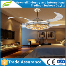 42 48 56 inch hidden blade ceiling fan, remote control decorative ceiling fan, ceiling fan with light