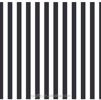 black and white stripe design simple and clear style kids bedding set