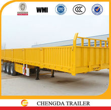 2015 New 80 tons hot sale Chinese side wall cargo truck with semi trailer