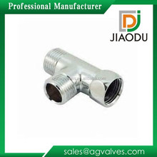 alibaba wholesale Custom Made High quality efficiency chrome plated Bathroom male and female cw617n brass fitting T connector