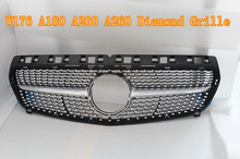 Auto parts Replacement Full star Chrome Style Front Center Grille For Mercedes Benz A Class W176