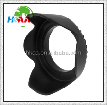 china manufacturer Black Plastic Petal Crown Flower 58mm Screw Mount Lens Hood for camera special custom service provided
