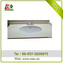 shandong green qurtz stone solid surface for veneer countertop