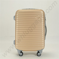 PC hard case luggage with zipper wheels aluminum trolley systems