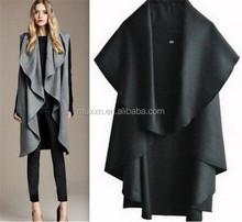 2015 venta al por mayor últimas señora de moda otoño de lana elegante Noble del cabo Poncho capa