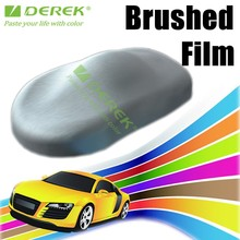paint protection filmpvc material matte brushed aluminum vinyl film for car wrapping