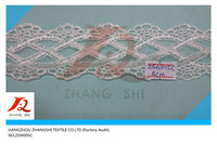 mesh lace embroidery fabric,net lace tirm.100% polyester