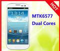 4.7 pulgadas MTK6577 de la corteza A9 del androide 4.1 nueva estrella N9377 precios más bajos teléfono de China moble