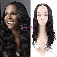 Fashion style body wave brazilian hair lace wig for black women