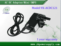 Wholesale YK-ACDC121 ac dc adapter 12v 1A UK adapter
