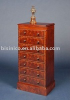 color red living room cabinet with drawers | solid wood carving chest with drawers B400084
