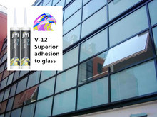 v12 acetate neutral curtain wall silicone sealant